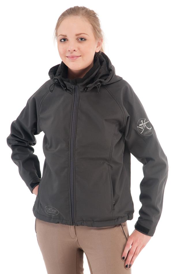 Talvitakki Dimex 6064, softshell, musta/harmaa/vihreä